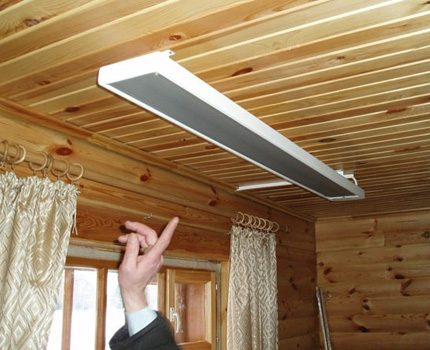 Infrared ceiling heater