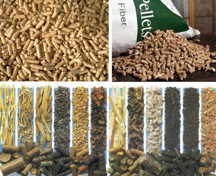 Dažādu veidu granulas