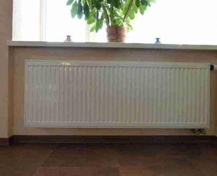 Dimensions des radiateurs en acier