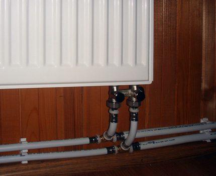 Connexion radiateur panneau
