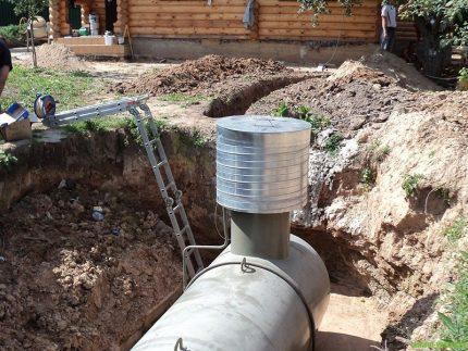 Gas holder installation