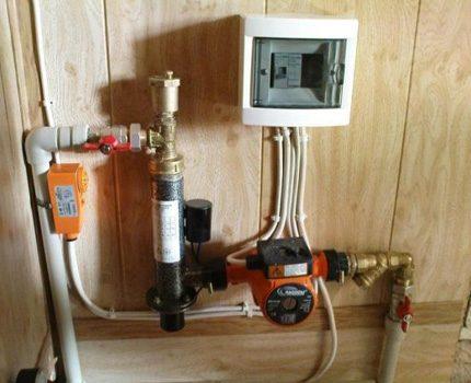 Installation correcte de la pompe de circulation
