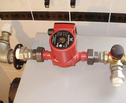Dimensions hors tout compactes de la pompe