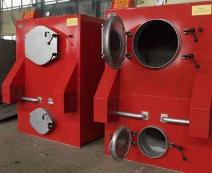 Boilers for industrial premises