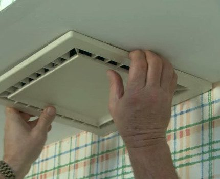 Installation of ventilation in the bathroom and toilet