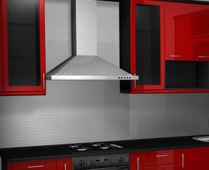 Une hotte aspirante doit être installée au-dessus de la cuisinière à gaz