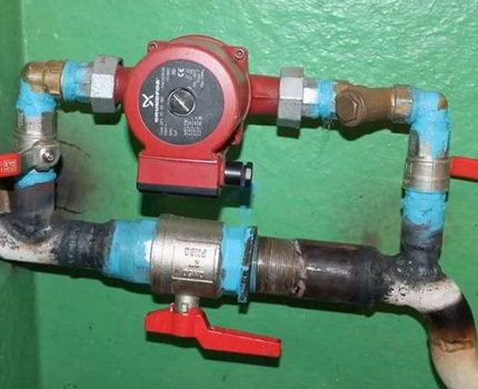 Pump in the heating system