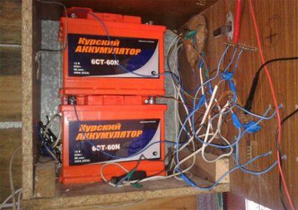 Vėjo generatoriaus baterijos