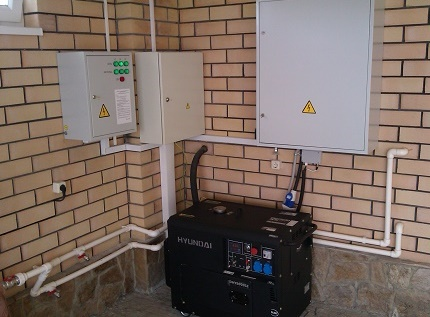 Independent power supply of a private house