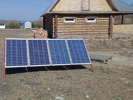 Solar panels on site
