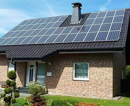 Solar panels for a residential building
