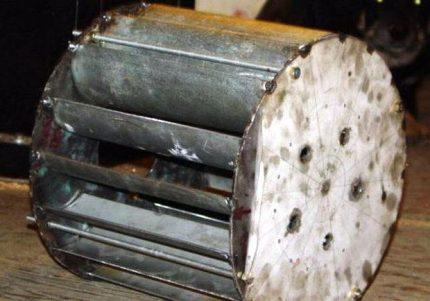 Water wheel drum