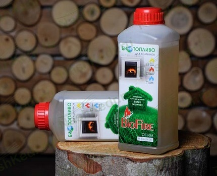 Fuel for eco-fires in bottles