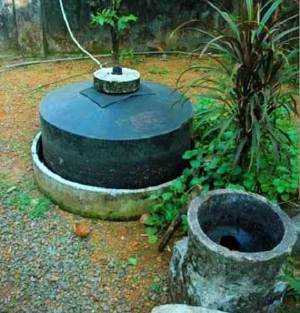 Indian version of a simple biogas plant
