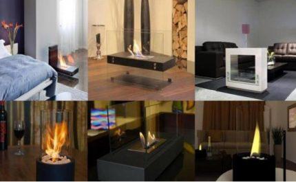 Biofireplaces in the interior