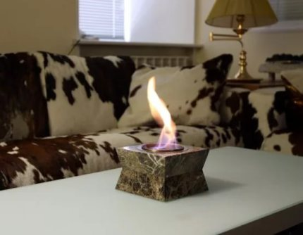 Biofuel for fireplaces and lamps