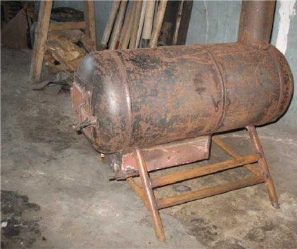 Poêle à ventre à partir d'un cylindre