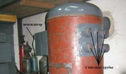 Poêle à ventre avec ventilateur