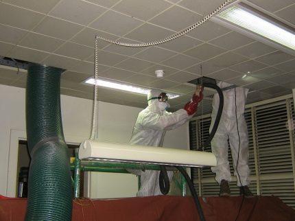 Ventilation cleaning method