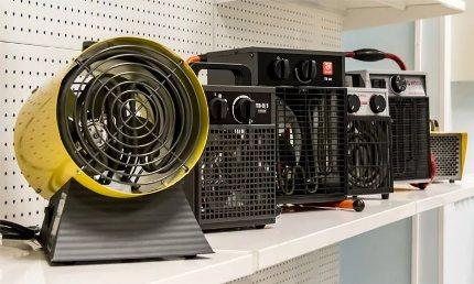 La gamme de radiateurs soufflants est vaste
