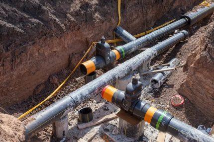 Underground gas pipeline