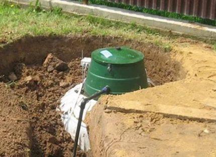 Caractéristiques de l'installation du réservoir de gaz
