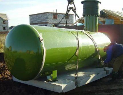 Horizontal gas tank Kadatec