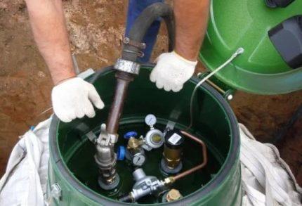 Gas system setup