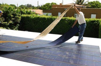 Roof flexible panel