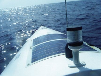Flexible panel on a yacht