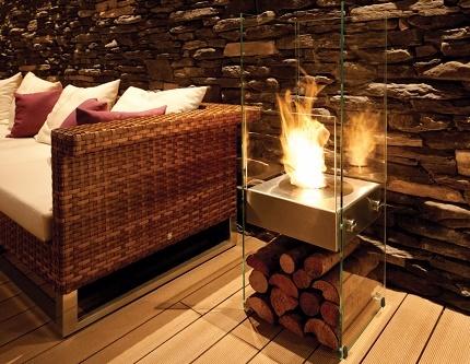 Floor fireplace