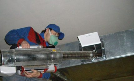 Ventilation cleaning process