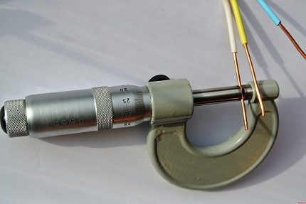 Wire diameter measurement