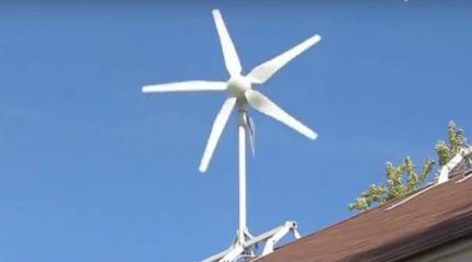 Horizontal wind generator