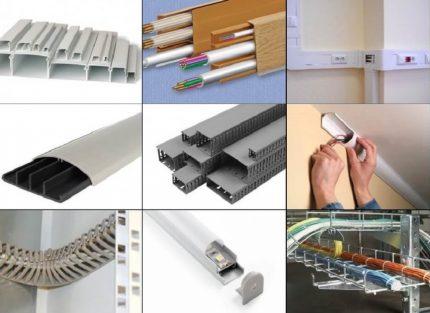Types de canaux de câbles pour le câblage ouvert