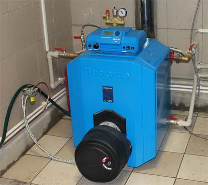 Floor standing gas boiler