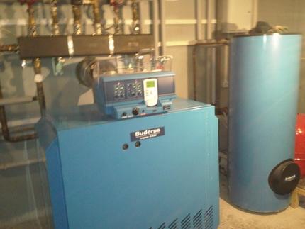Gas floor boiler