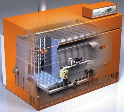 Double-circuit boiler