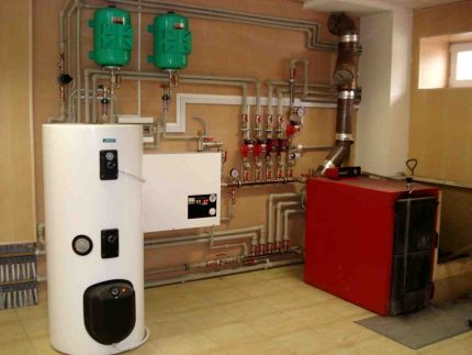 An example of a boiler house in a house