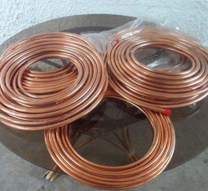 Copper tubes for split systems