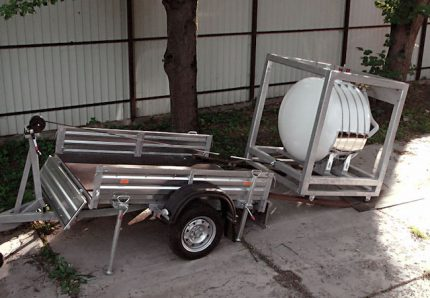 Réservoir d'essence mobile pour remorque