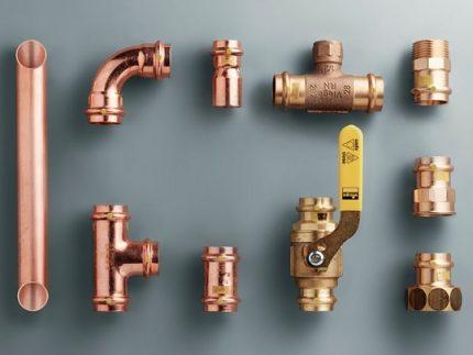 Raccords pour tuyaux de gaz