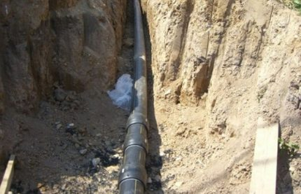 Gazoduc souterrain
