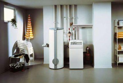 Chaudière à gaz dans la maison
