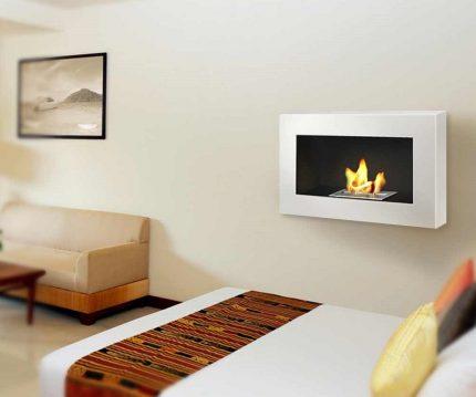 Wall option of a biofireplace