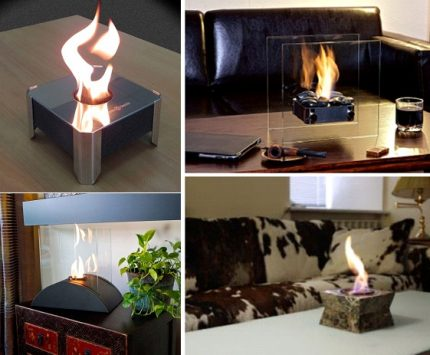 Table fireplaces