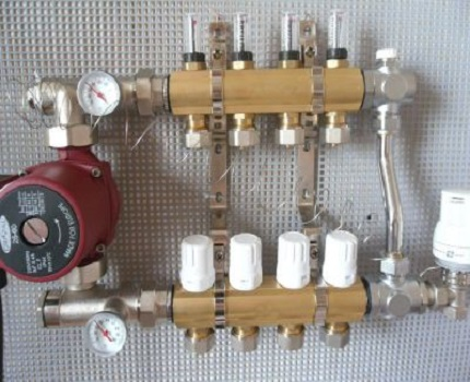 Pumping device in the system