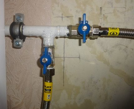 Connexion directe des tuyaux de gaz