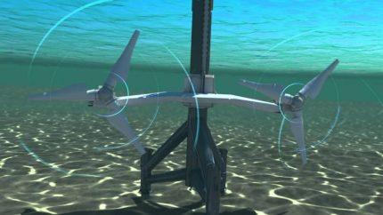 Underwater windmills