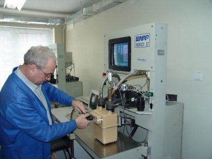 Vérification de compteur de laboratoire